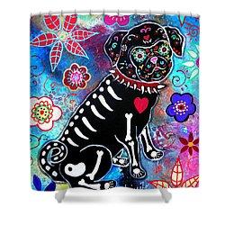 Dia De Los Muertos Pug Painting By Pristine Cartera Turkus