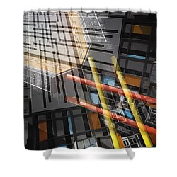 Diagonal Mondrian Shower Curtain