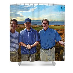 Shower Curtain featuring the painting Diamante Golf by Tim Gilliland