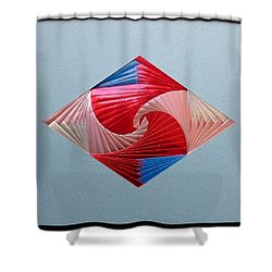 Shower Curtain featuring the mixed media Diamond Design by Ron Davidson