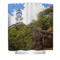 Diamond Head Lighthouse - Oahu Hawaii Shower Curtain by Brian Harig
