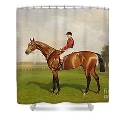 Diamond Jubilee Winner Of The 1900 Derby Shower Curtain by Emil Adam