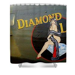 Diamond Lil B-24 Bomber Shower Curtain