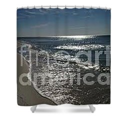 Diamond Mine Shower Curtain by Laurie L