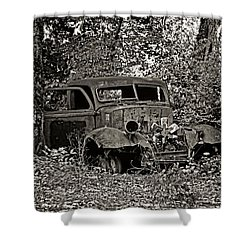 Shower Curtain featuring the photograph Diamond T by Betty Depee