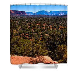 Diamondback Gulch Shower Curtain by David Patterson
