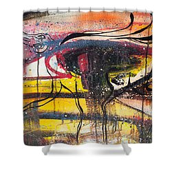 Diamonds On The Face Of Evil II Shower Curtain by Sheridan Furrer