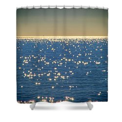 Diamonds On The Ocean Shower Curtain by Mariola Bitner