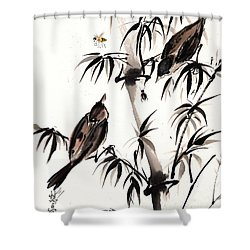 Dibs Shower Curtain by Bill Searle