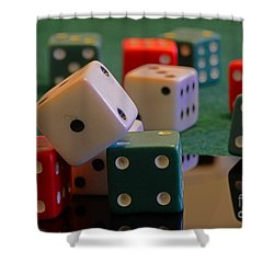 Dice Shower Curtain by Paul Ward