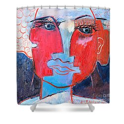 Dichotomous Being  Shower Curtain by Ana Maria Edulescu