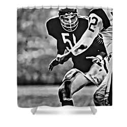 Dick Butkus Shower Curtain