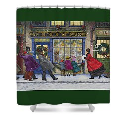 The Toy Shop Shower Curtain by Lynn Bywaters