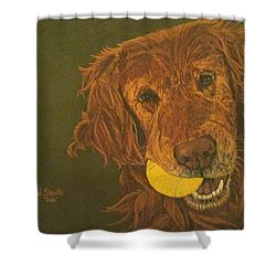 Did Somebody Say Ball? Shower Curtain by Wendy Shoults