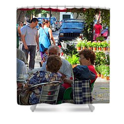 Shower Curtain featuring the photograph Did You Say You Went On Vacation? by Tina M Wenger