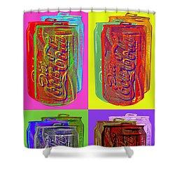 Diet Coke - Coca Cola Shower Curtain by Jean luc Comperat