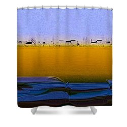 Digital City Landscape - 2 Shower Curtain