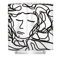 Digital Doodle Shower Curtain