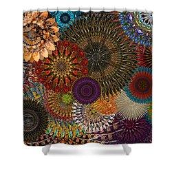 Digital Flowers 001 Shower Curtain by Stuart Turnbull