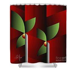 Shower Curtain featuring the digital art Digital Garden by Leo Symon