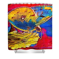 Digital Mixed Media Butterfly Shower Curtain by Maestro