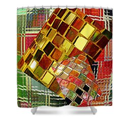 Digital Mosaic Shower Curtain by Sarah Loft