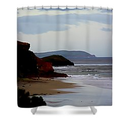 Digital Painting Of Smiths Beach Shower Curtain