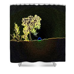 Digital Sunset Shower Curtain by Jeff Swan