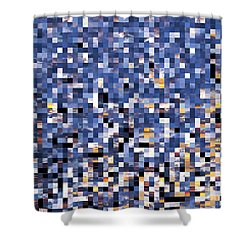 Digital Sunset Shower Curtain