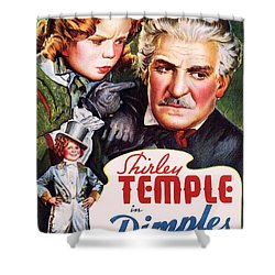 Dimples Shower Curtain by Movie Poster Prints