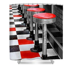 Diner #2 Shower Curtain by Nikolyn McDonald