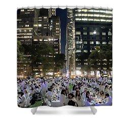 Diner En Blanc New York 2013 Shower Curtain