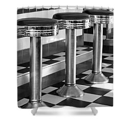 Diner Stools Shower Curtain