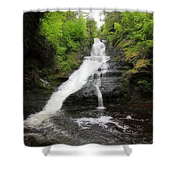 Shower Curtain featuring the photograph Dingmans Falls by Trina  Ansel