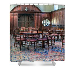 Shower Curtain featuring the photograph Dining Hall Wren Building by Jerry Gammon