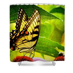 Dining With A Friend Shower Curtain by Lois Bryan