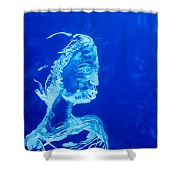 Dinka Painted Lady - South Sudan Shower Curtain by Gloria Ssali