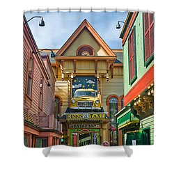 Dinks Taxi In Bar Harbor Shower Curtain