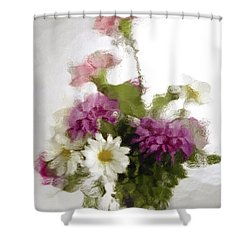 Dinner For Two Shower Curtain by Penny Lisowski