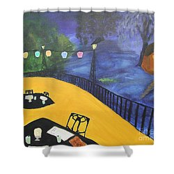 Dinner On The Bayou Shower Curtain