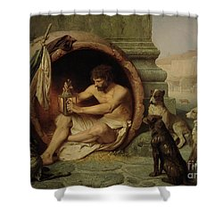 Diogenes Shower Curtain by Jean Leon Gerome