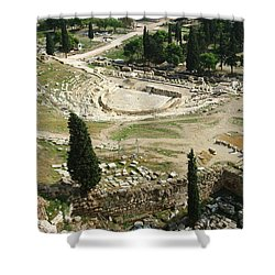 Dionysus Amphitheater Shower Curtain by Ellen Henneke
