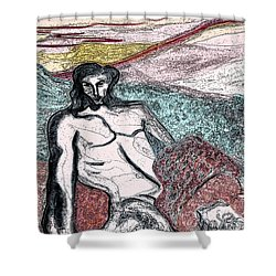Dionysus By Jrr Shower Curtain by First Star Art