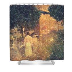 Dirge For November Shower Curtain by Taylan Apukovska