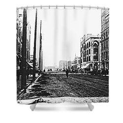 Downtown Dirt Spokane C. 1895 Shower Curtain by Daniel Hagerman