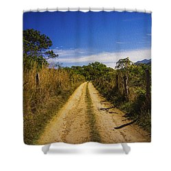 Dirt Road Shower Curtain by Aged Pixel