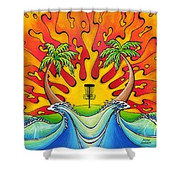 Disc Golfers Paradise Shower Curtain