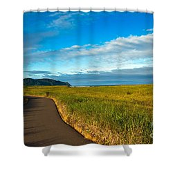 Discovery Trail Shower Curtain by Robert Bales