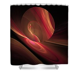 Disk Swirls Shower Curtain