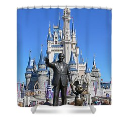 Disney And Mickey Shower Curtain by Kevin Fortier